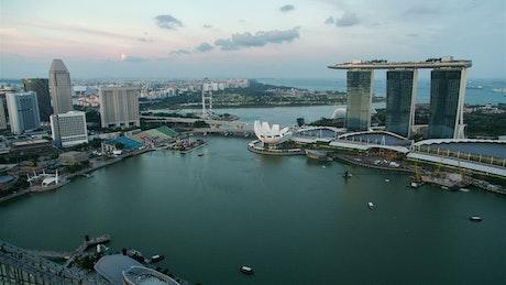 Singapore bay time lapse