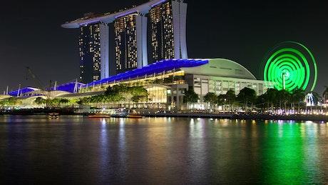 Singapore cityscape time lapse