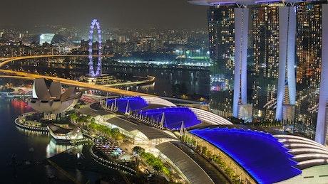 Singapore Marina Bay area at night