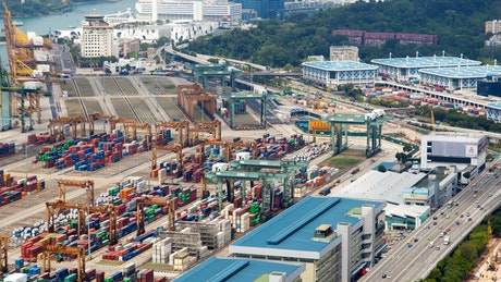Singapore trading port in fast motion