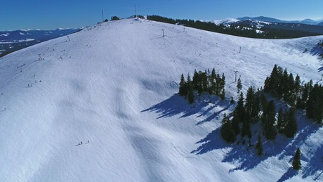 Ski resort on the top of a mountain
