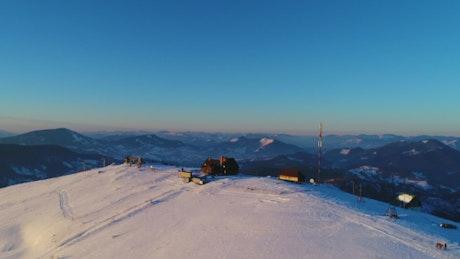 Ski resort on top of a mountain