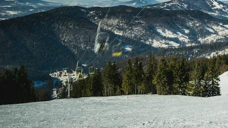 Ski Resort, time-lapse