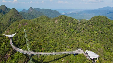 Sky bridge in the mountains