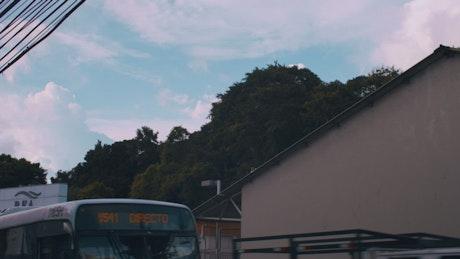 Sky seen from street