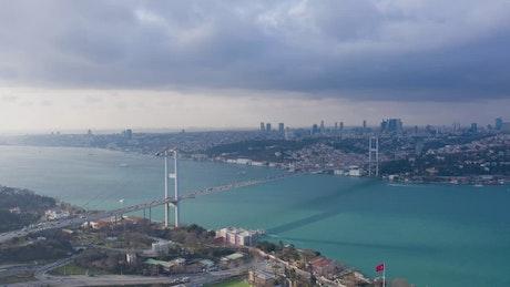 Sky timelapse over Istanbul