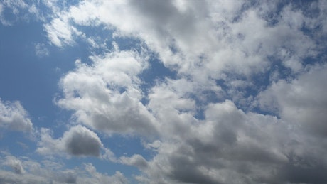 Sky with scattered clouds