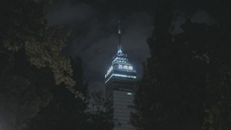 Skyscraper at night