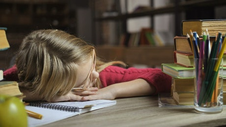 Sleeping instead of doing homework