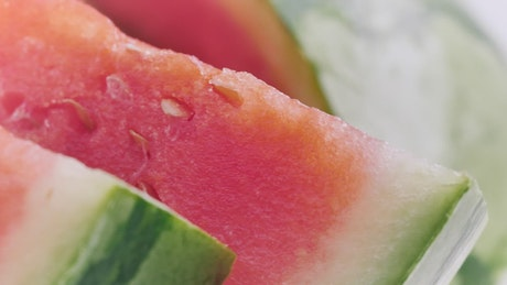 Sliced watermelon, close up view