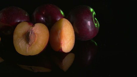 Slices of fresh Plums