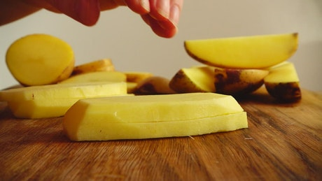 Slicing French fries