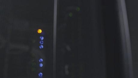 Slow shot of a server room