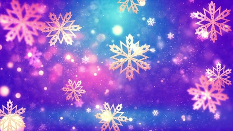 Slowly falling snowflakes
