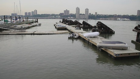 Small boats in the Hudson