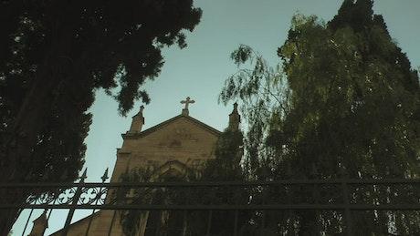 Small chapel seen from below