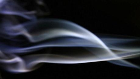 Small streams of smoke