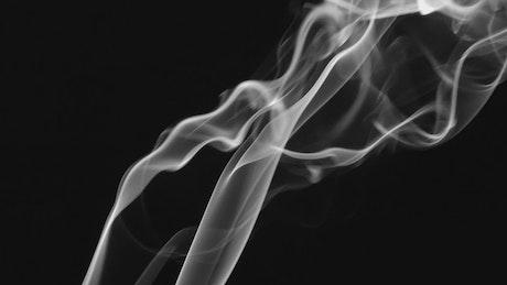 Smoke alpha texture on dark background