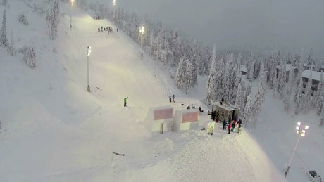Snowboarding competition