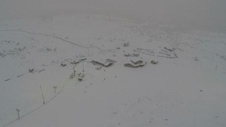 Snowfall at a Ski Resort