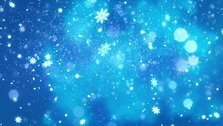 Snowing luminous snowflakes