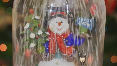 Snowman inside a vase