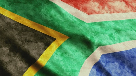 South Africa faded flag, 3D