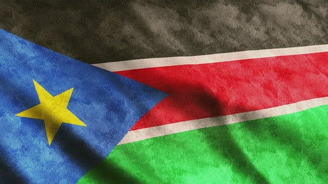 South Sudan flag in Africa