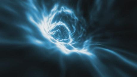 Space energy tunnel, loop video