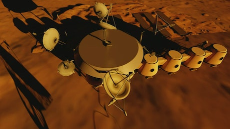Space station on the surface of Mars