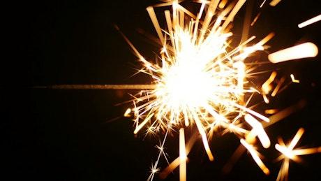 Sparkler in the dark