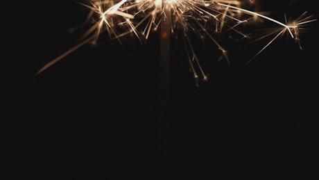 Sparkler light full of sparks