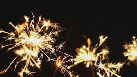 Sparkles on a black backgroound