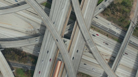 Spectacular shot of Judge Pregerson Highway