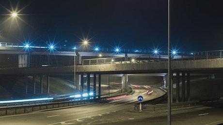 Speed traffic at night