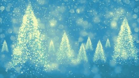 Spinning Christmas Light Trees