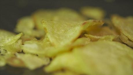 Spinning potato chips
