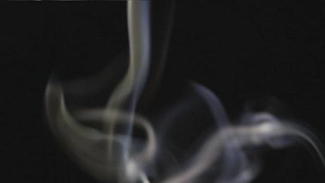 Spiral of smoke