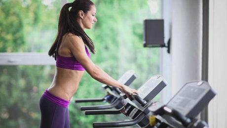 Sports woman doing cardio