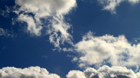 Spring clouds and beautiful blue sky