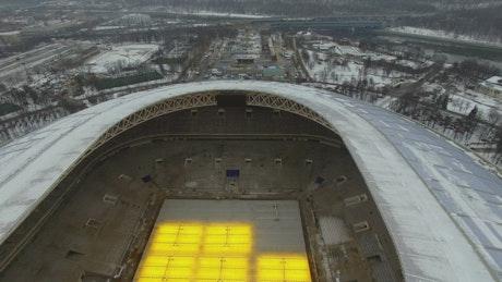 Stadium in the snow