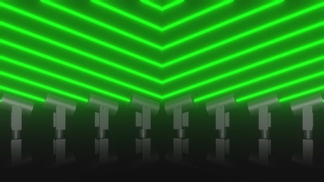 Stage lasers spinning, 3D animation