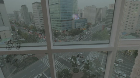 Standing by the window in Korea