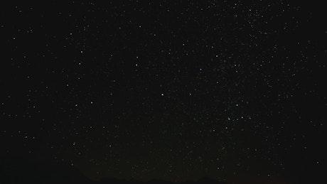 Stars in the sky rotating