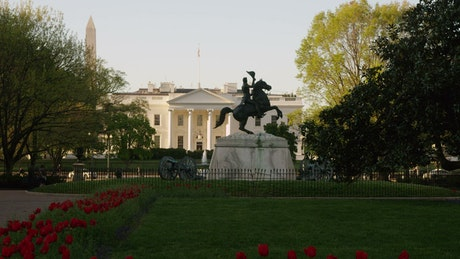 Statue outside the White House
