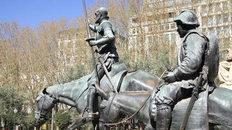Statues of Don Quixote and Sancho Panza