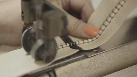 Stitching leather material