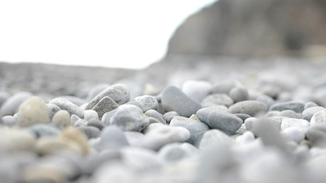 Stones covering a beach