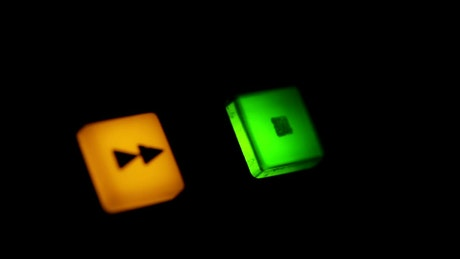 Stop button flashing