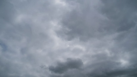 Storm clouds moving in a dark sky